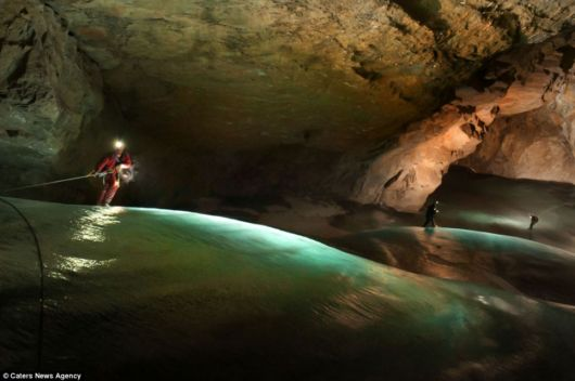 Inside A Glacier-Cave