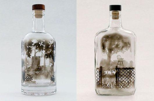 Amazing Bottled Smoke Art