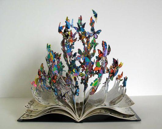 Butterflies Bursting Out Of Book