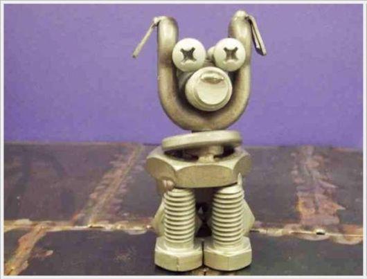 Tiny Nut Bolt Sculptures