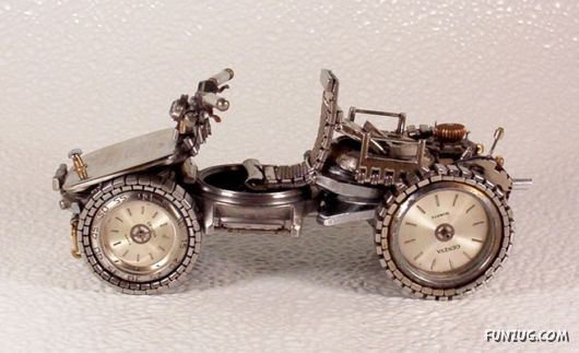 Old Watches Can be Made Motor Bikes