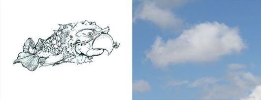 Turning Clouds Into Illustrations
