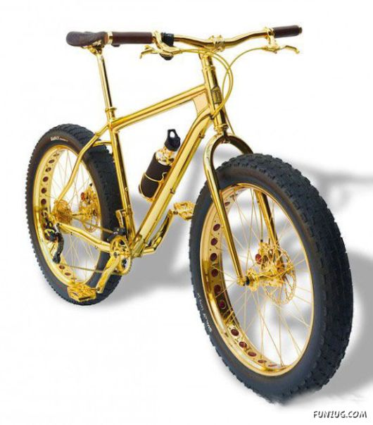 Ultra-Bling 24K Gold Bicycle That Costs US$1 Million