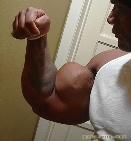 A Bodybuilder With Insane Arms