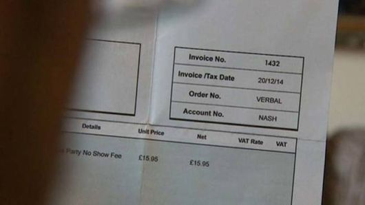 A 5-Year-Old Was Invoiced For Missing A Party