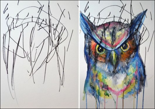 Turning Sketches Into Paintings
