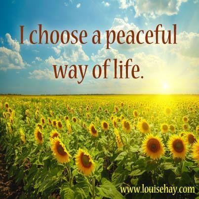 I Choose A Peacful Way Of Life