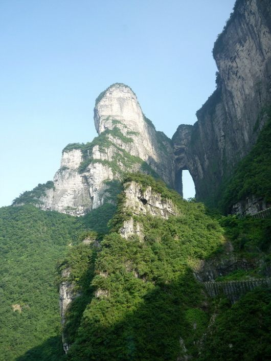The Heavenly Gate Of Tyanmen Mountain