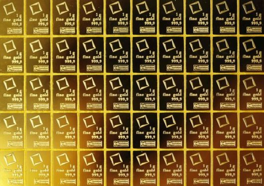 Gold Bars That Can Be Broken Like Chocolate