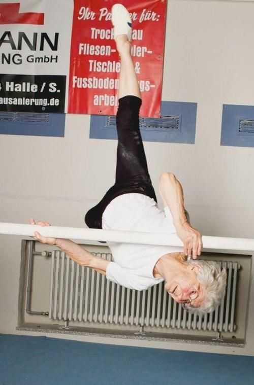 86 Year Old Grandma Still Doing Gymnastics