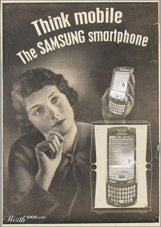 Modern Items In Vintage Design Advertisements