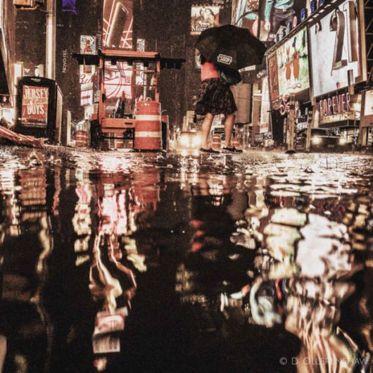 Amazing Reflections Of Puddles In New York's Streets
