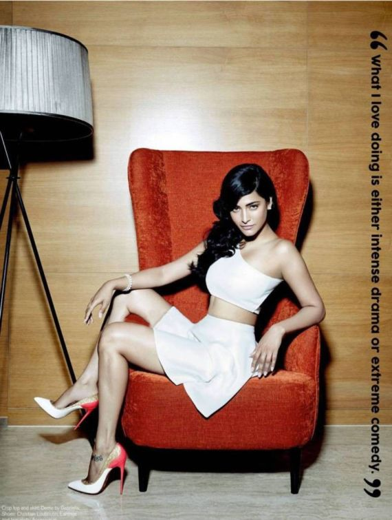 Shruti Haasan Poses For The FHM Magazine
