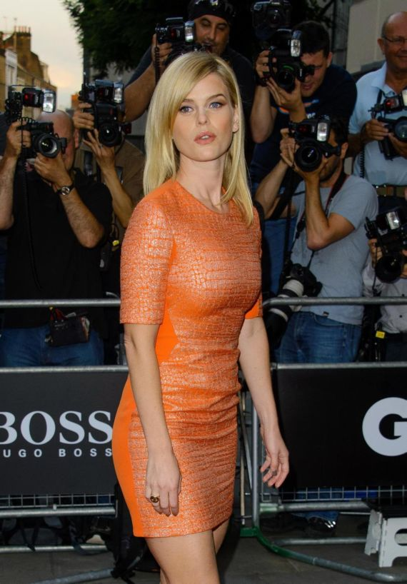 Alice Eve attends GQ Awards In London