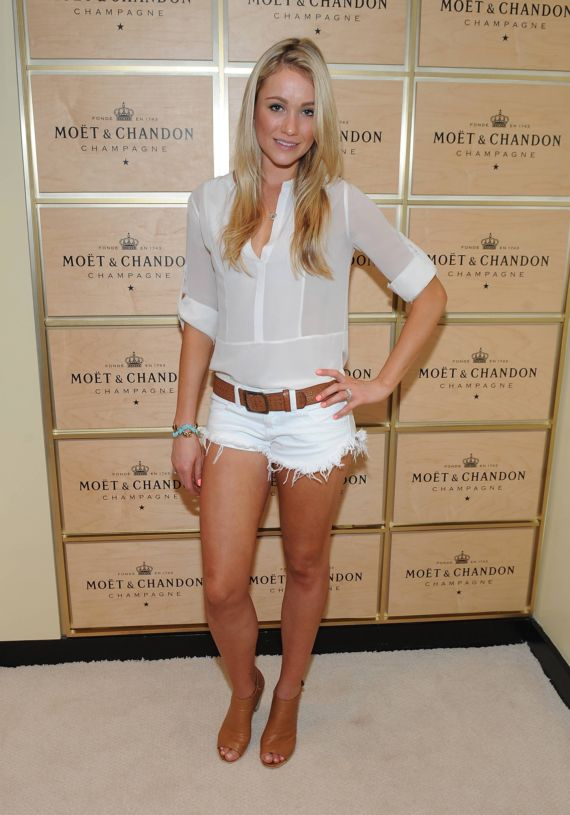 Katrina Bowden Promoting Moet N Chandon Champagne