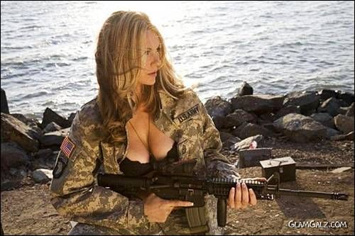 Spicy Beauties With Guns