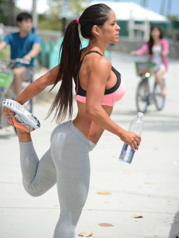 Michelle Lewin Works Out In Miami