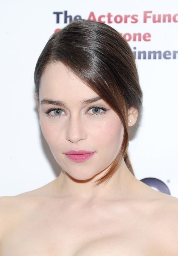 Awesome Emilia Clarke in Black Dress
