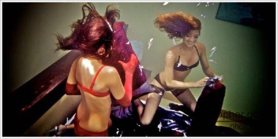 Crazy Underwater Pillow Fight