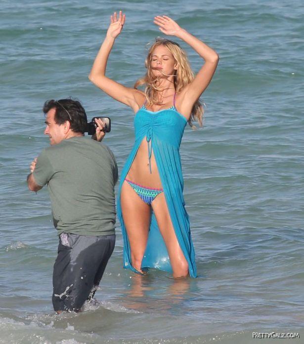 Erin Heatherton Posing For A Bikini Shoot
