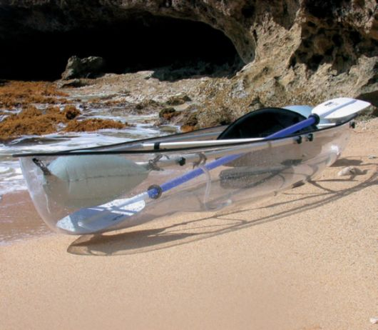 Transparent Kayak Lets You See Into The Ocean Below